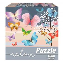 1Conzept Relax Runt Pussel - Fjärilar 1000 bitar multifärg