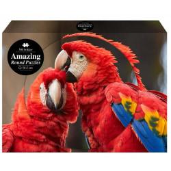 1Conzept Amazing Runt Pussel - Papegojor 1000 bitar multifärg