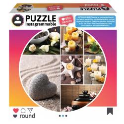 1Conzept Instagram Runt Pussel - Spa 500 bitar multifärg