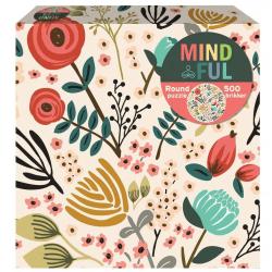 1Conzept Mindful Runt Pussel - Blommor 500 bitar multifärg