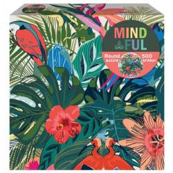 1Conzept Mindful Runt Pussel - Blommor & Fåglar 500 bitar multifärg