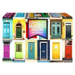 1Conzept Pussel - Color Me Happy: Dörrar 1000 bitar multifärg