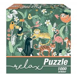 1Conzept Relax Pussel - Djungel 1000 bitar multifärg