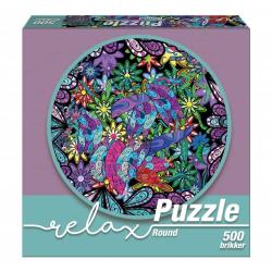 1Conzept Relax Runt Pussel - Färger 500 bitar multifärg