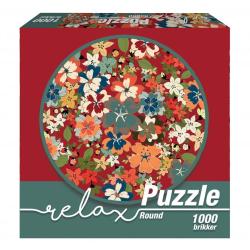 1Conzept Relax Runt Pussel - Hawaiiblommor 1000 bitar multifärg