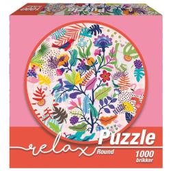 1Conzept Relax Runt Pussel - Lama & Flamingos 1000 bitar multifärg