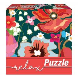 1Conzept Relax Runt Pussel - Röda blommor 1000 bitar multifärg