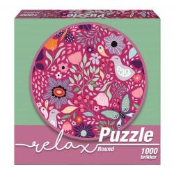 1Conzept Relax Runt Pussel - Rosa 1000 bitar multifärg