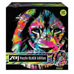 1Conzept Zen Black Edition Runt Pussel - Lejon 500 bitar multifärg