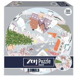 1Conzept Zen Runt Pussel - Isbjörnarnas jul 500 bitar multifärg