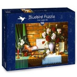 Bluebird Pussel - Hon älskar mig 2000 bitar multifärg