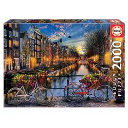 Educa Pussel - Amsterdam med kärlek 2000 Bitar multifärg