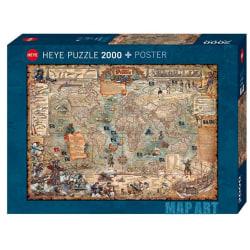 Heye Pussel - Map Art, Piratvärld 2000 Bitar multifärg