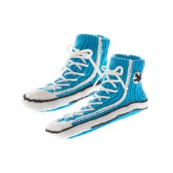 Accés Sneaker Socks - Stickade Tofflor för Män, Turkos Turkos