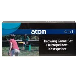 Atom Sports Kastspelset - Slam 4 i 1 spel multifärg