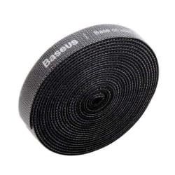 Baseus Kardborreband för kablar 3 meter Svart