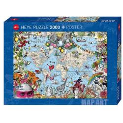 Heye Pussel - Map Art: Underlig värld 2000 Bitar  multifärg