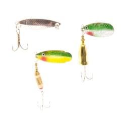 Apaja Fiskedrag Spinnare 3-pack multifärg