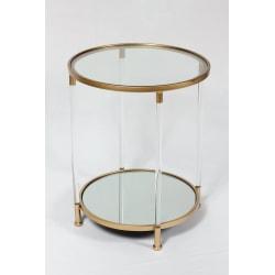 Litet bord med spegel skiva