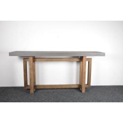 Per avlastningsbord återvunnet trä med cement top flerfärgad