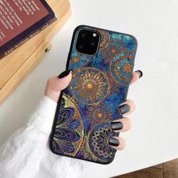 iPhone 12, 12 Pro & 12 Pro Max Skal orientaliskt blått mönster Blue one size