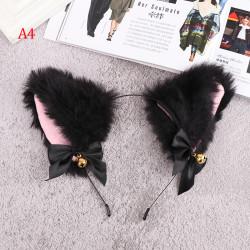 15 färger vacker maskerad Halloween Cat Ears Cosplay Bow A4