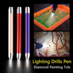 3st / parti Diamond Broderverktyg Luminous Pen 5d Diamond Paint one size