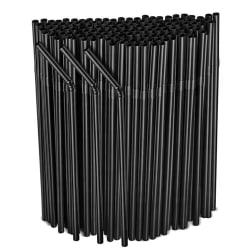 500-pack - flexibla sugrör - svart black