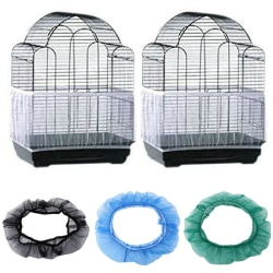 Creative Catcher Guard Mesh Gauze Bird Cage Cover Black L Jewelr White L