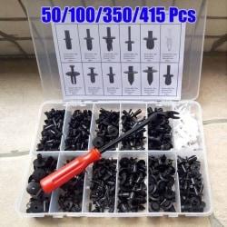 Car Body Push Pin Rivet Fastener Trim Molding Clip 50 Pcs(inclue tool)