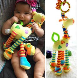 Söt spädbarn baby utveckling mjuk giraff djur handbells skaller Multi One size