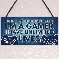 Gamer Gaming Sovrum Gåvor Rolig nyhet julklapp Blue