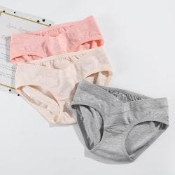 Löjtnant Bomull Låg midja Underkläder Sömlös mjuk underkläder Pr Gray M