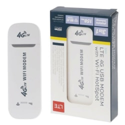 Låst 4G LTE USB-modem Mobile Wireless Router Wifi Hotspot White