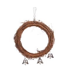 1 x fågel papegoja rotting gunga ring hängande husdjur undulat undulat c brown Diameter: approx. 5.91 inch