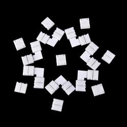 10 ST Mini 4-PIN RGB-kontaktadapter för RGB 5050 LED Strip