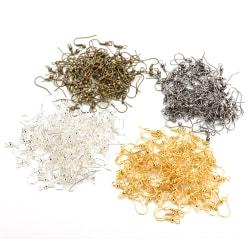 100 st silverpläterad örhänge krok spole örontråd för smycken Ma Golden
