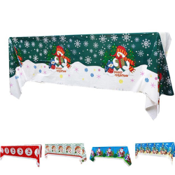 108 * 180cm julduk Santa Claus Christmas Party Tabl