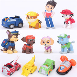12 st mode Nickelodeon Paw Patrol minifigurer leksaksspel