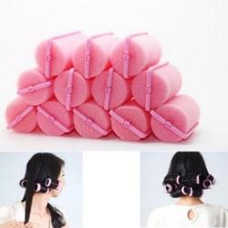 12st / väska Magic Sponge Foam Cushion Hair Styling Rollers Curler