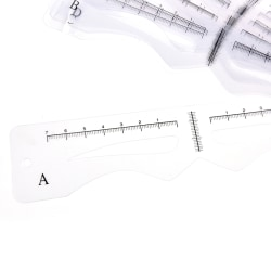 12x / set utsökt ögonbryn stencil grooming formkortsats tem