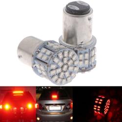 2st rött ljus 1157 BAY15D 50 SMD 1206 LED-bilstoppbroms One Size