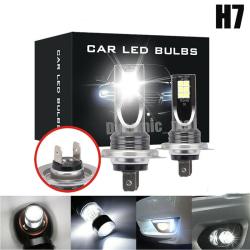 2x H7 LED FOG-strålkastarljussats 50W 14000LM CAR-lampor 6000K