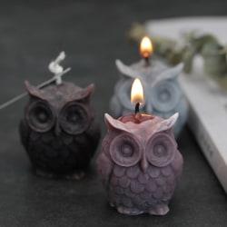 3D Owl Candle Silicone Making DIY Handgjorda hartsformar Animal P one size