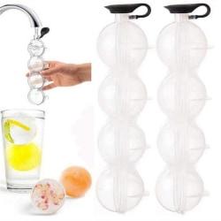 4 kavitet bar sfär isbit form mögel boll frys maker fack onesize