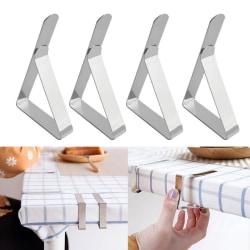 4st Rostfritt stål dukklämmor Bröllopsbordöverdrag Stabl