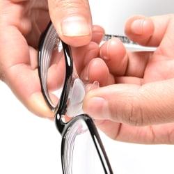 5 par halkskyddade silikonnosdynor för glasögon solglasögon Black