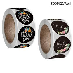 500 / Roll Tack Klistermärken Seal Lable Scrapbooking Sticker Bak