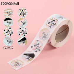 500 / Roll Tack Klistermärken Seal Lable Scrapbooking Stickers Ba