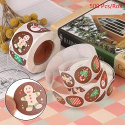 500st / rulle förpackning jul klistermärken klisterlapp lim L 1 inch